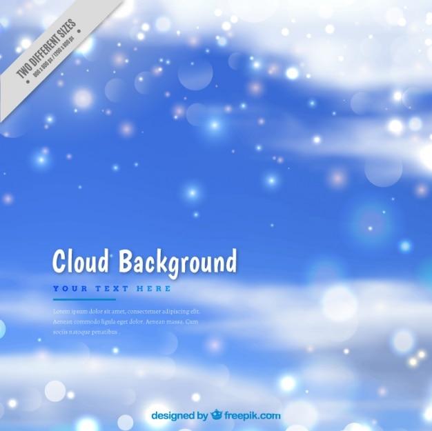 빛나는 모양으로 구름 배경