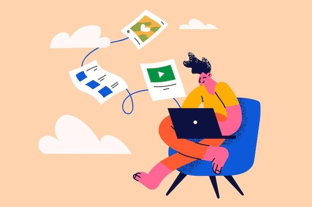 Cloud backup and database synchronization concept