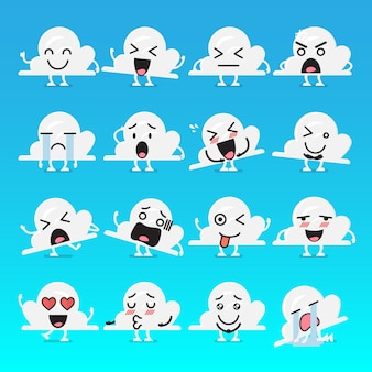 Cloud character emoji set