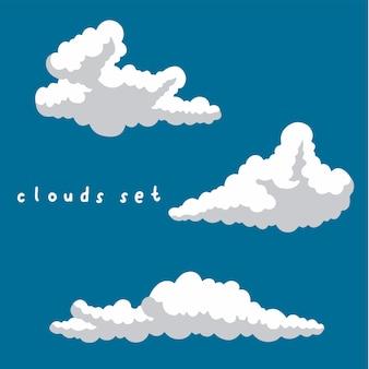 Набор облако коллекции социальных сми пост векторные иллюстрации