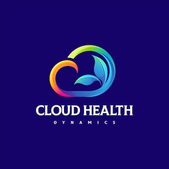 구름 색상 그라디언트 로고 디자인