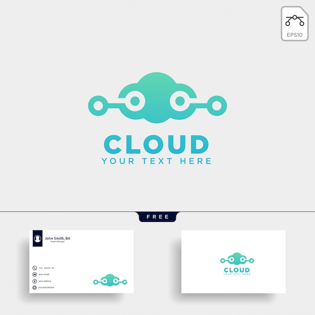 Cloud communication logo template vector illustration