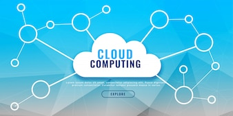 Cloud computing banner design concept