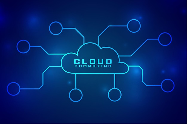 Cloud computing digital technology concept connection