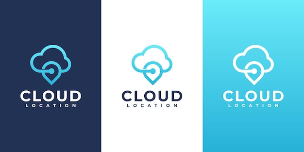 Cloud computing and location sign vector design