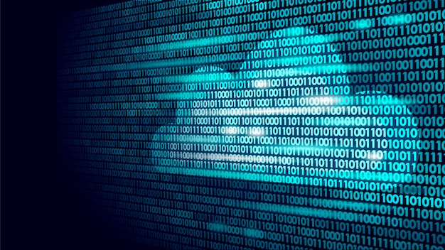 Cloud computing online storage binary code numbers
