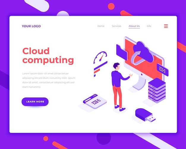 Cloud computing people and interact with screen
