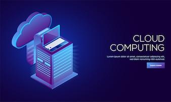 クラウドコンピューティングに対応したランディングページ設計。