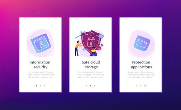 Cloud computing security app interface template.