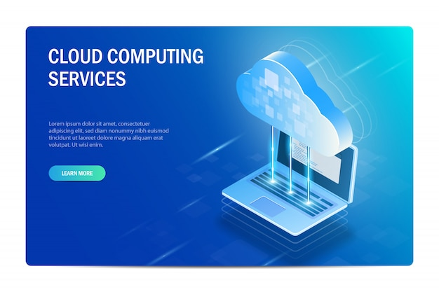 Cloud computing services. the process of synchronizing files with a laptop