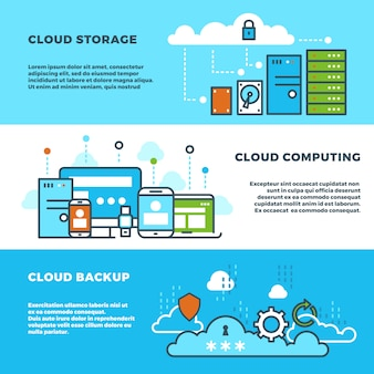 Cloud computing solution banners