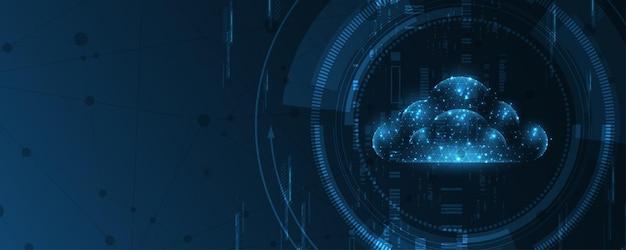 Фон технологии хранения облачных вычислений концепция инновации услуг цифровых данных