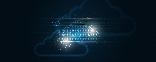 클라우드 컴퓨팅 스토리지 기술 배경 디지털 데이터 서비스 혁신 개념
