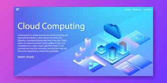 クラウドコンピューティング技術等尺性concept.Webテンプレート