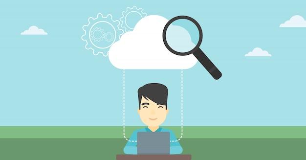 Cloud computing technology vector illustration.
