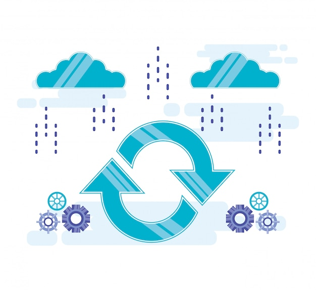 Cloud computing with arrows refresh