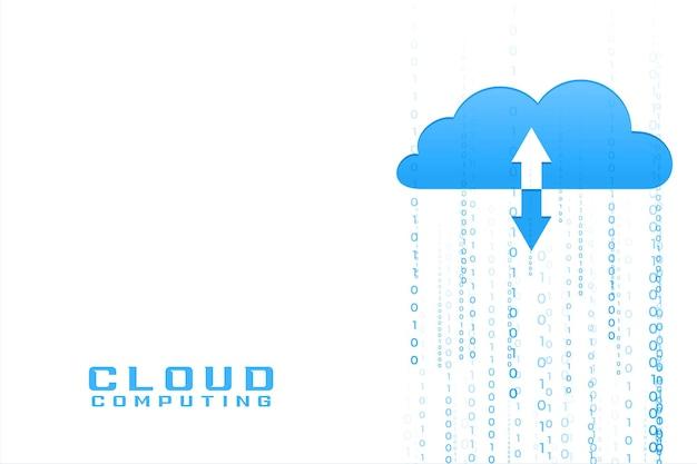 Cloud computing con codici binari in entrata e in uscita di dati