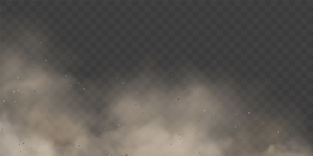 구름 결로 또는 투명한 배경에 흰색 연기.