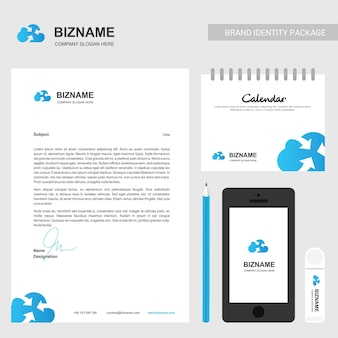 Cloud connect logo and stationary