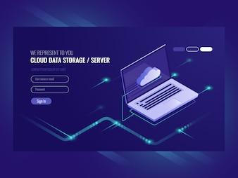 Cloud data storage, remote data access, backup copy services