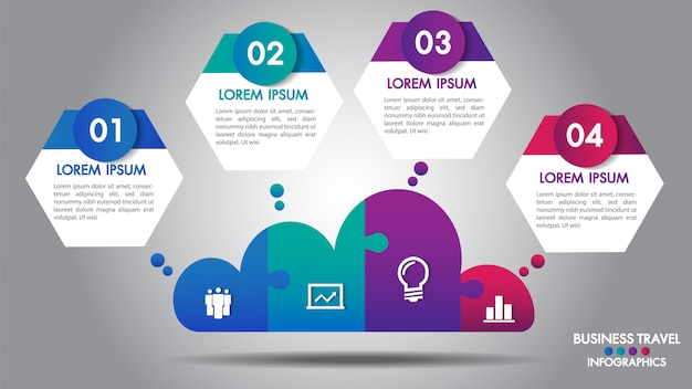 Cloud design business infographics