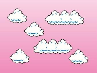 Cloud designs vector
