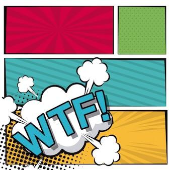 Cloud dialog callout wtf text