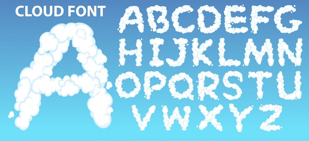 클라우드 영어 알파벳 글꼴