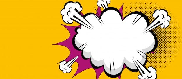 Cloud explosion pop art style