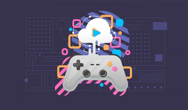 Cloud gaming concept.
