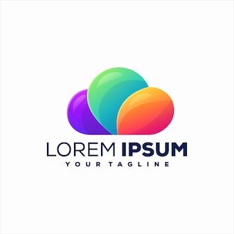 Cloud gradient color logo design