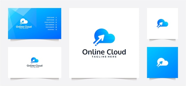 Cloud gradient logo and business card