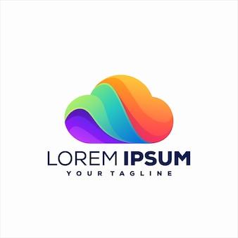 Cloud gradient logo