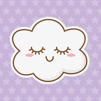 Cloud icon cartoon
