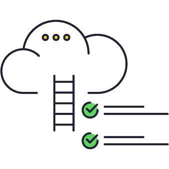 Cloud icon dream career ladder and goal vector