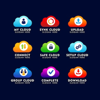 Cloud icon logo design template