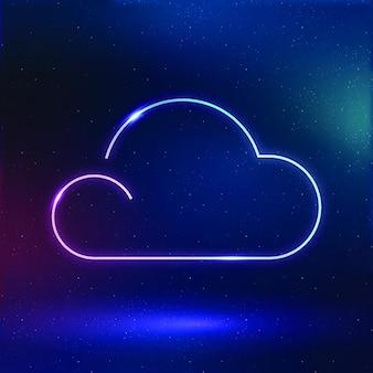 Cloud icon vector weather symbol