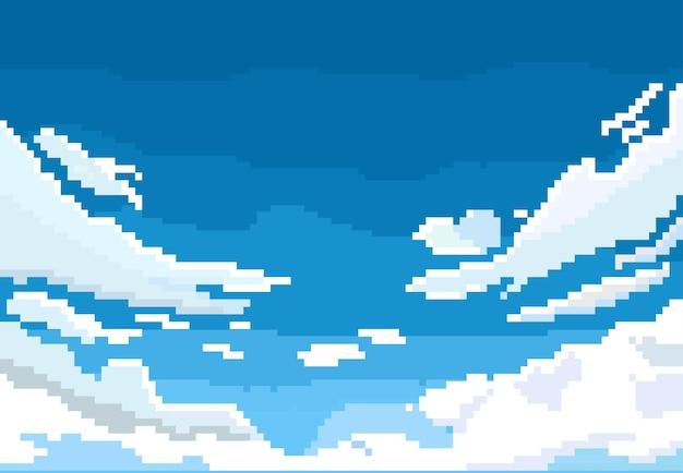 Облако в небе в стиле пиксель-арт