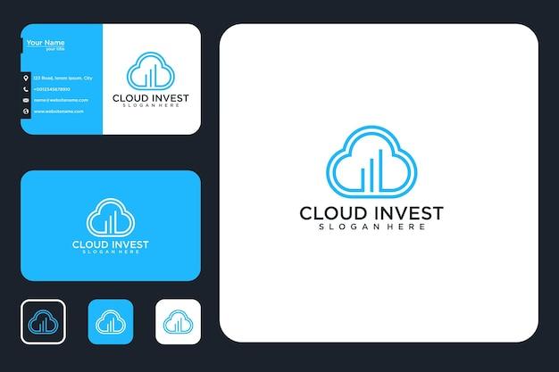 Облако инвестировать дизайн логотипа и визитки