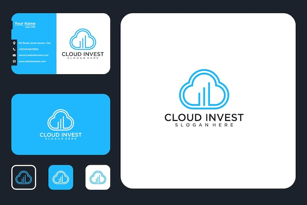 Cloud invest logo design and business cards