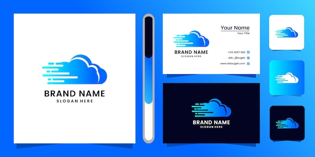 クラウドのロゴデザインと名刺