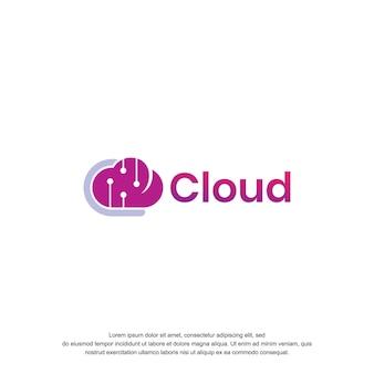 Облако логотип дизайн значок концепции
