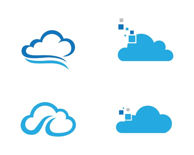 Cloud logo template vector illustration design