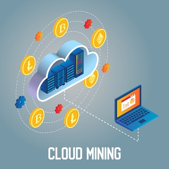 Cloud mining   isometric