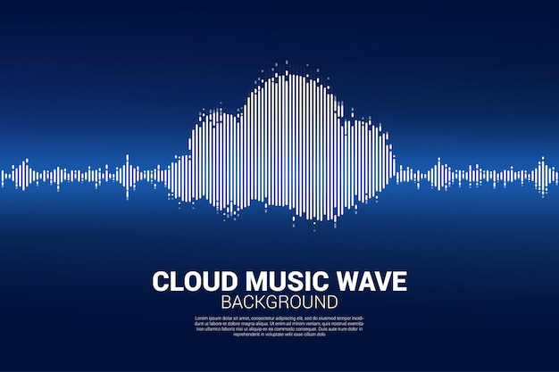 Cloud music and sound technology concept .