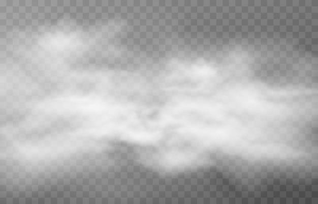 연기 또는 안개 구름. 안개 또는 구름