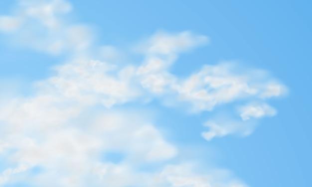 透明な背景に雲します。