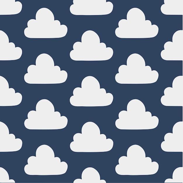 Cloud pattern background social media post vector illustration