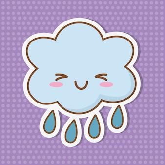 Cloud raining icon