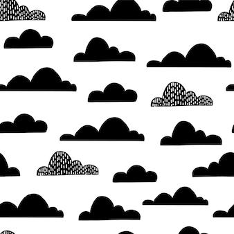 어린이 보육실 재미 있는 어린이 하늘 인쇄에 대 한 클라우드 원활한 패턴